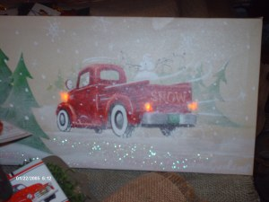 Vintage trucks with lights that work.
