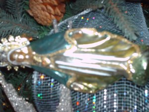 The Madonna in glass ornament